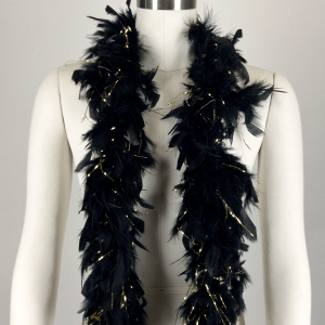 Feather Boa Black and Gold